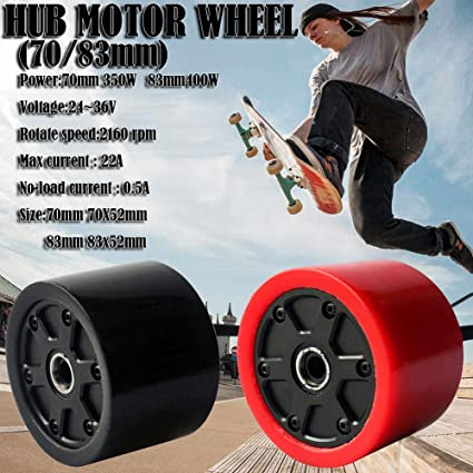 Gorgebuy Skateboard Hub Motor Wheels - 70 / 80mm Skateboard ...