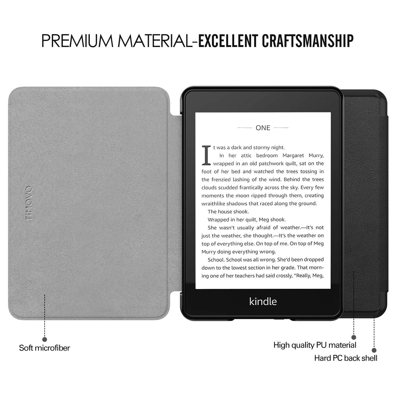 TiMOVO Funda para Kindle Paperwhite 10th Gen, 2018 Releases Ultra Delgada Ligera Smart-Shell Soporte Cover Case para  Kindle Paperwhite 2018 E-Reader /Índigo