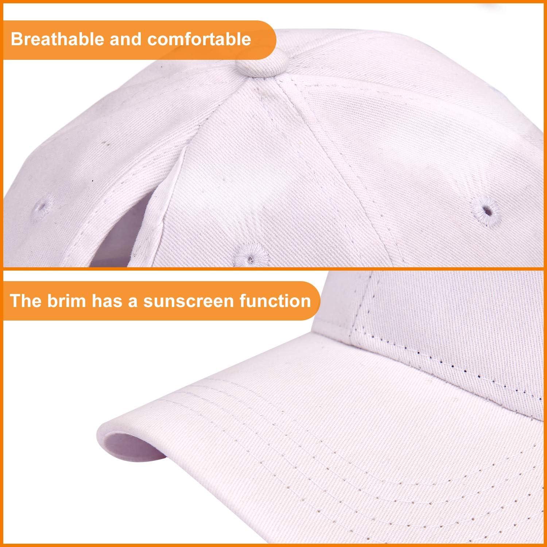 LIVACASA 1 Pezzo Cappello da Baseball Donna Berretto con Visiera Estivo Traspirante Regolabile per Sport Esterno 56-61CM