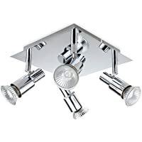 ROMKE Modern Square 4 Way GU10 Ceiling Spotlight Adjustable Ceiling Kitchen Lights