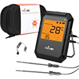 BBQ Meat Thermometer, Bluetooth Remote Cooking Thermometer, Digital Oven Thermometer with 6 Probe Port for Smoker…