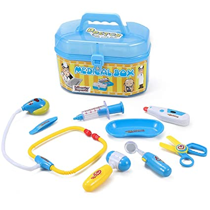 818edb19e22bd Amazon.com  Liberty Imports Family Doctor Medical Box Kit Playset for Kids  - Pretend Play Tools Toy Set  Toys   Games