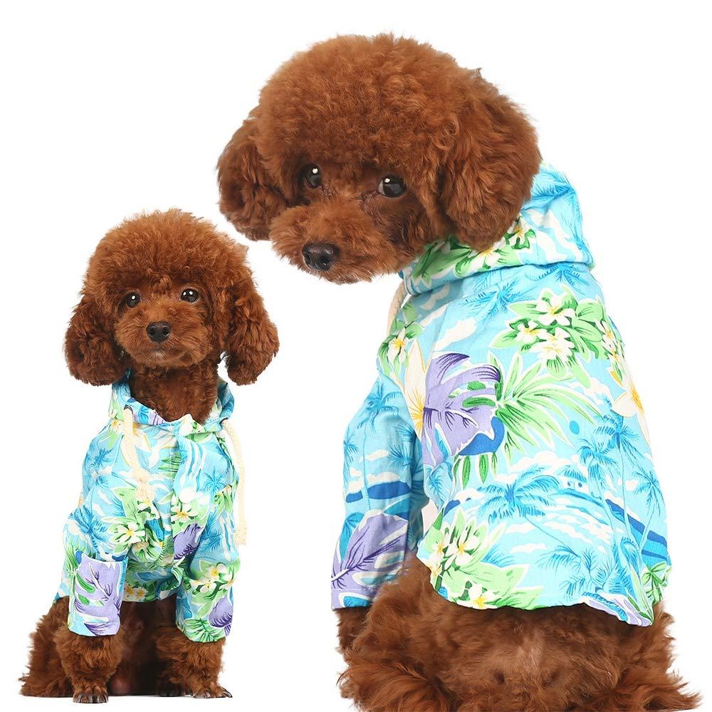 Flowercolor Medium Flowercolor Medium Summer Vest Costumes Cat Tank Top, Dog Summer Apparel Puppy Pet Clothes,Cute Clothes Soft Silk Apparels,Summer Cool Vest,Pet Shirt Summer Apparel,Flowercolor,M