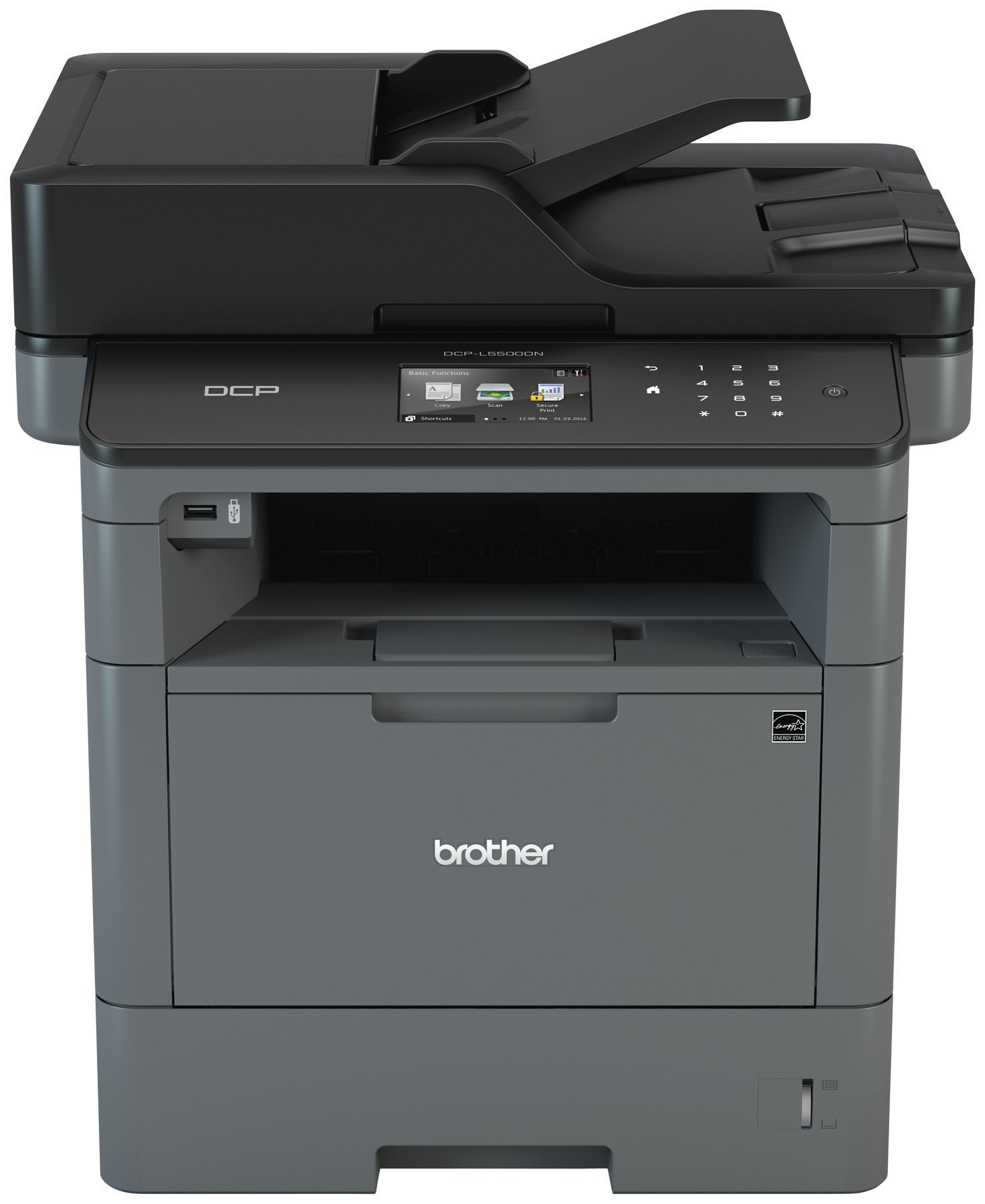Brother Monochrome Laser Printer, Multifunction Printer and Copier, DCP-L5500DN, Flexible Network Connectivity, Duplex Printing, Mobile Printing & Scanning, Amazon Dash Replenishment Enabled by Brother