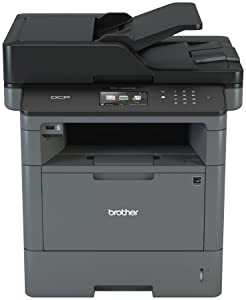 Brother Monochrome Laser Printer, Multifunction Printer and Copier, DCP-L5500DN, Flexible Network Connectivity, Duplex Printing, Mobile Printing & Scanning, Amazon Dash Replenishment Enabled