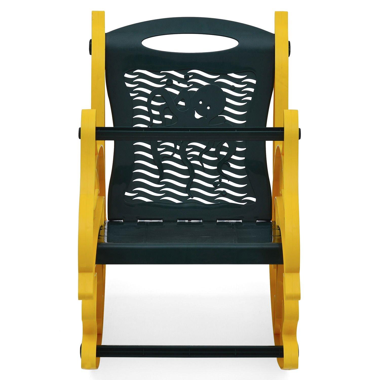 Nilkamal Dolphin Rocker Kids Chair Yellow and Olive Green