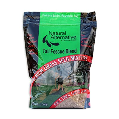 Natural Alternative Grass Seed - Low Maintenance Turf Type Tall Fescue Blend 3 LB. (15003 - New Breed) : Garden & Outdoor
