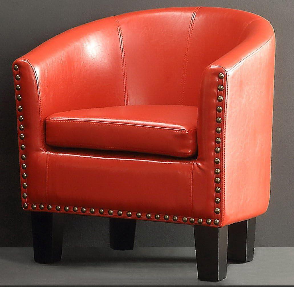 Rosevera Duilio Barrel Chair, Red