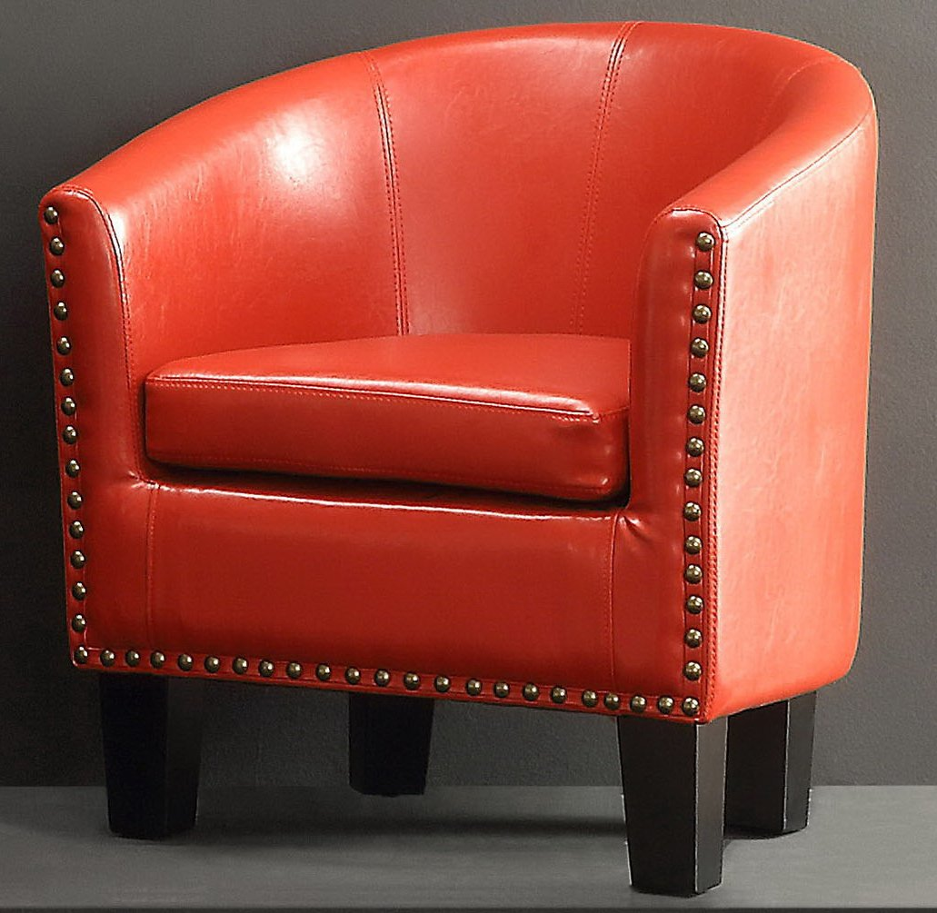 Rosevera Home Duilio Barrel Chair Fully Wing CO.. LTD C2BN
