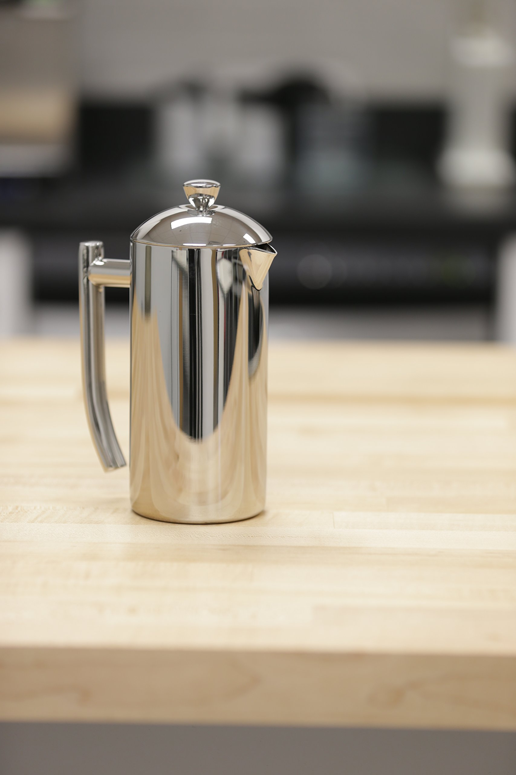 Frieling USA 131 Double Wall Stainless Steel French Press Coffee Maker with Patented Dual Screen, 44-Ounce, Brushed by Frieling (Image #3)
