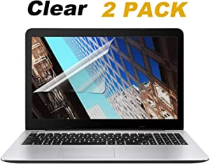 [2PCS Pack] 15.6-inch Laptop Crystal Clear Screen Protector, Notebook Computer Screen Guard Protector Compatible HP/DELL/Asus/Acer/Sony/Samsung/Lenovo/Toshiba etc, Display 16:9 (2-Pieces/Pack)