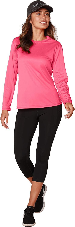 UV Sun Protection Outdoor Performance Long Sleeve T-Shirt Moisture Wicking Athletic Shirts INGEAR Womens UPF 50