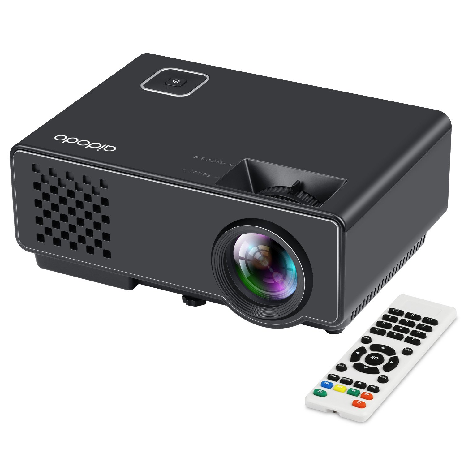 Aidodo Proyector Portatil Mini vídeo proyector? lúmenes proyectores P Full HD LCD