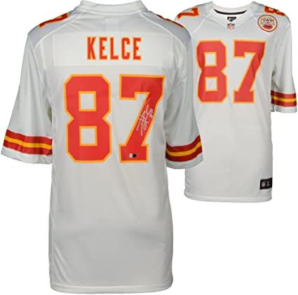 c22c1839b ... coupon for travis kelce kansas city chiefs autographed white nike game  jersey fanatics authentic certified autographed