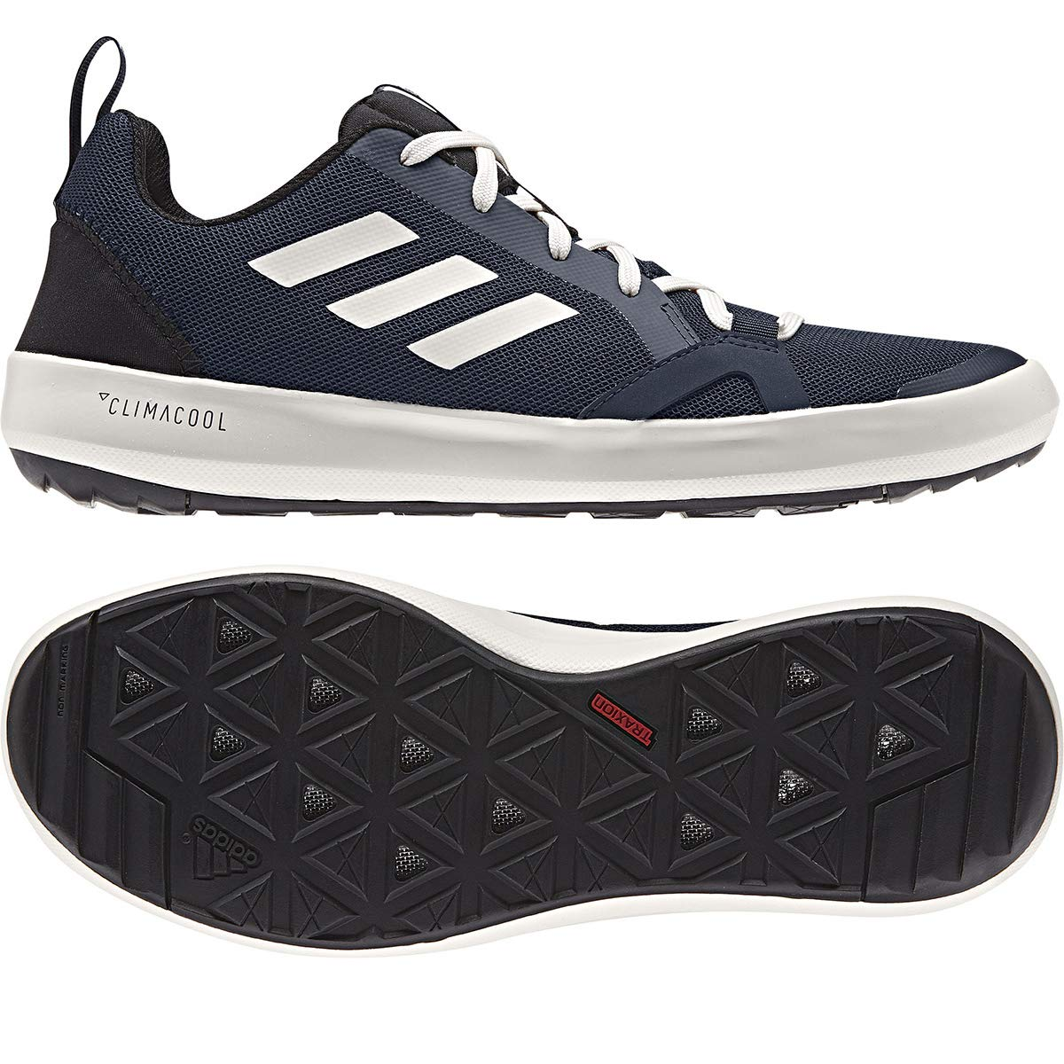 Adidas Terrex CC Boat Shoe - Men's Collegiate Navy/Chalk White/Black 6.5
