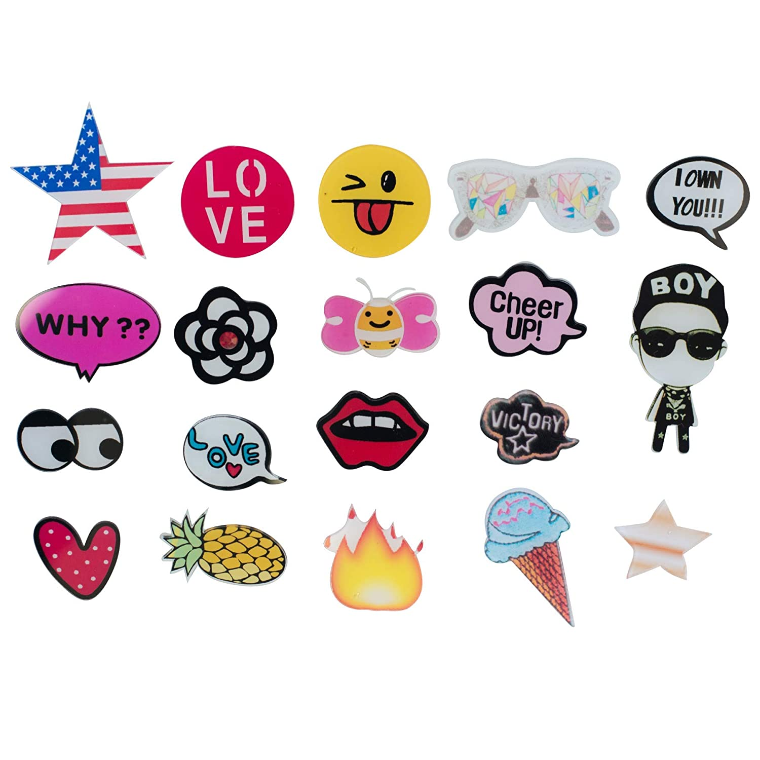 Special100% Acrylic Brooches Set of Lovely Cute pins,Lapel pin,Cool Pins for Clothes,pin,pins for Backpacks,Bags,Badges,Hats,Jeans, Jacket and More.