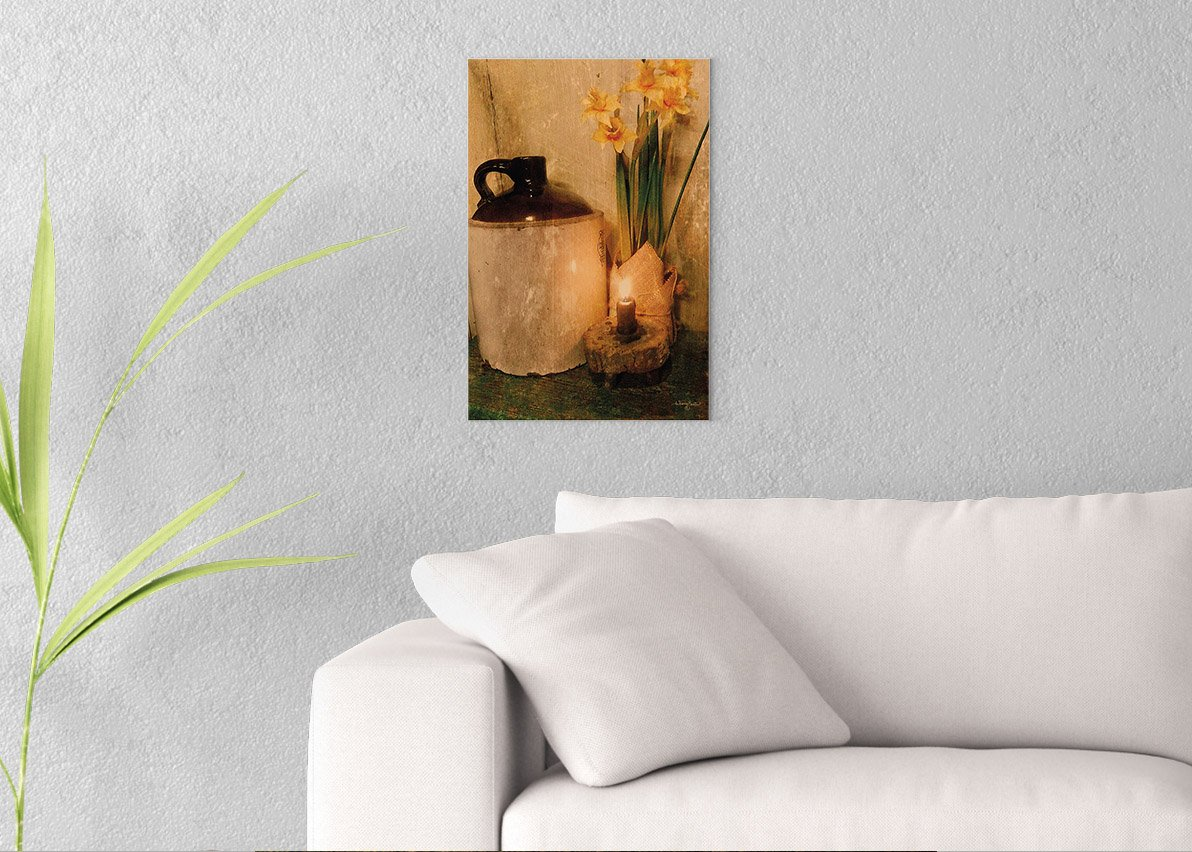 Daffodils by Candlelight Printed on 12x18 Canvas Wall Art by Pennylane
