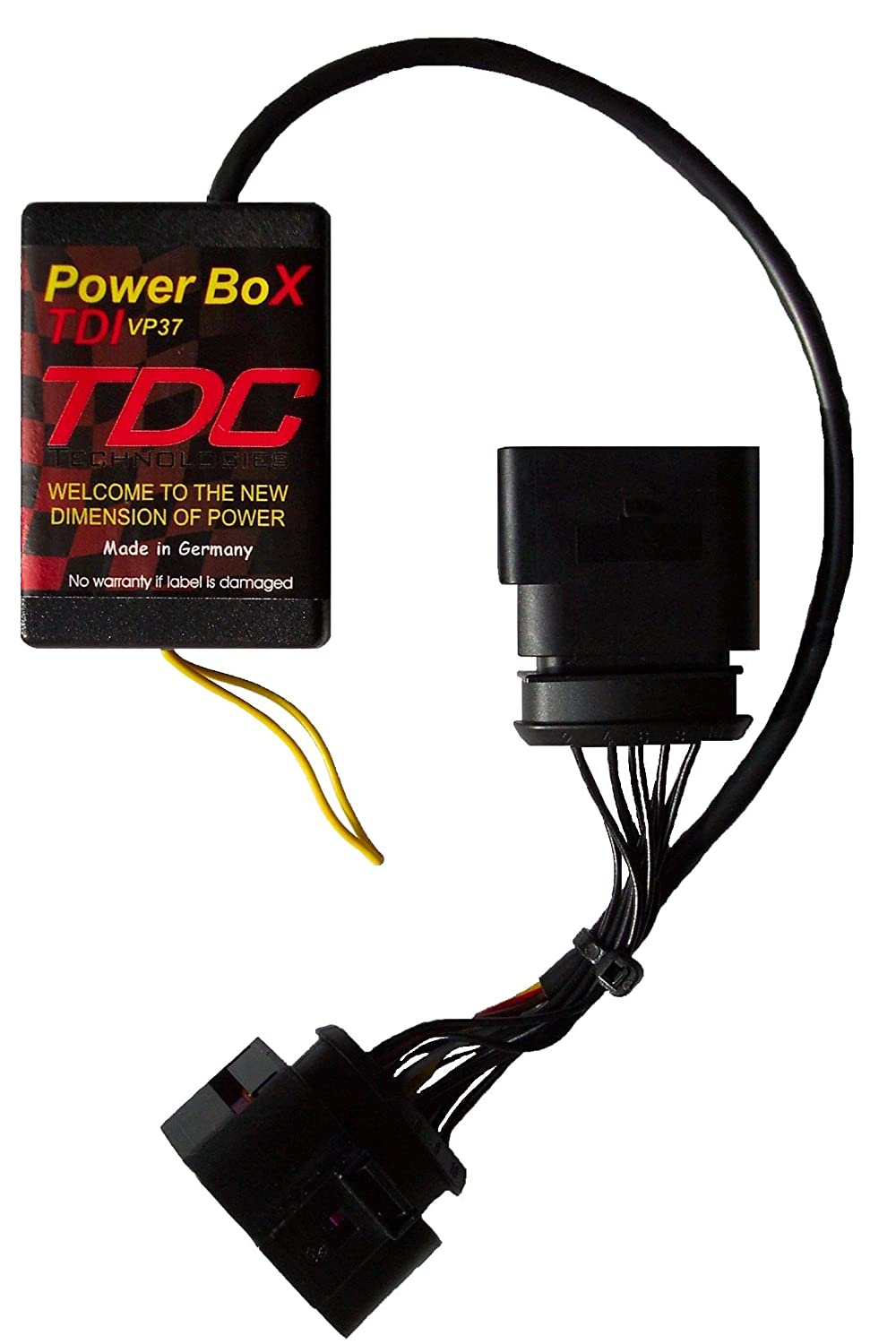 PowerBox VP37 Diesel Chiptuning Performance Module Tuningchip for VW Volkswagen Jetta 1.9 TDI (year 1996-2003) 66 KW / 90 PS / 285 NM - more power less fuel MAL Electronics GmbH