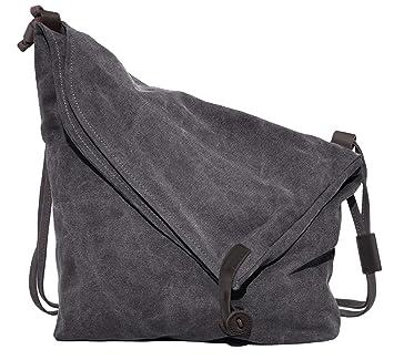 Crossbody Bag,COOFIT Canvas Crossbody Messenger Bag Shouder Bag Handbag for  Women Men s (COOFIT Grey)  Amazon.co.uk  Luggage d4a58b61c3
