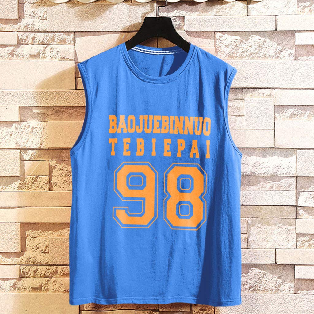 Fastbot Mens Sports Vest Fitness Running Basketball Training Shirt Outdoor Sports Sleeveless Top
