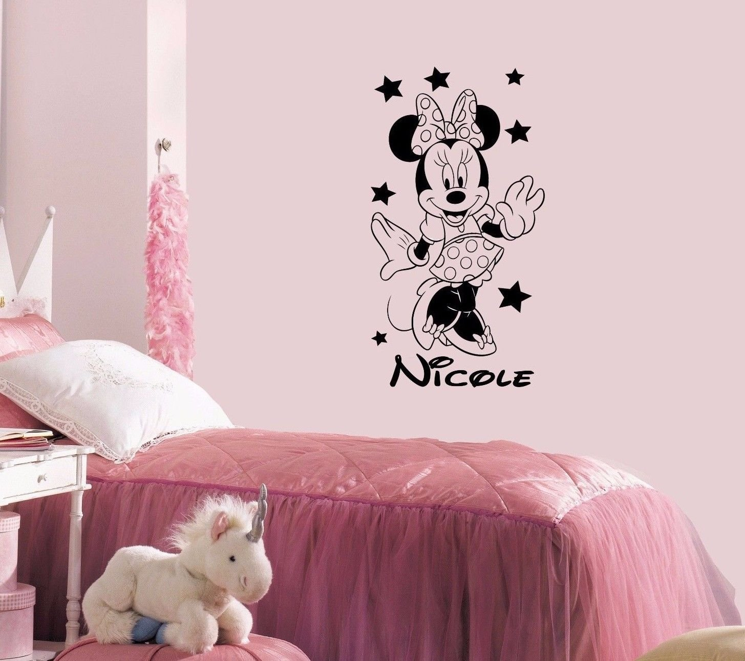 Amazoncom Name Wall Decal Minnie Mouse Disney Vinyl Decals - Custom vinyl wall decals disney