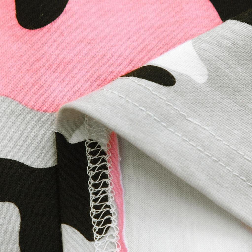 Kehen Infant Baby Toddler Girl 2pcs Lotus Leaf Collar Tops Camo Falbala T-Shirt Solid Mini Skirt Sets