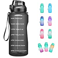 4AMinLA Motivational Water Bottle 2.2L/64oz Half Gallon Jug with Straw and Time Marker Large Capacity Leakproof BPA Free…