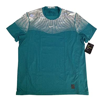 29b09e588e78b Nike Pro Dark Green Hypercool Max Fitted Training Shirt 744281-346 - Green  - Large: Amazon.co.uk: Clothing