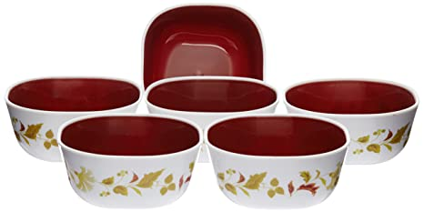 Nayasa Dlx Microfresh Square Bowl Set, Set of 6, Brown
