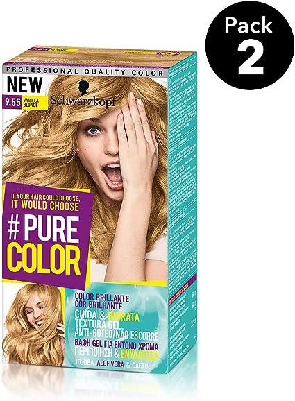 Pure Color de Schwarzkopf Tono 9.55 Vanilla Blonde - 2 uds - Coloración Permamente