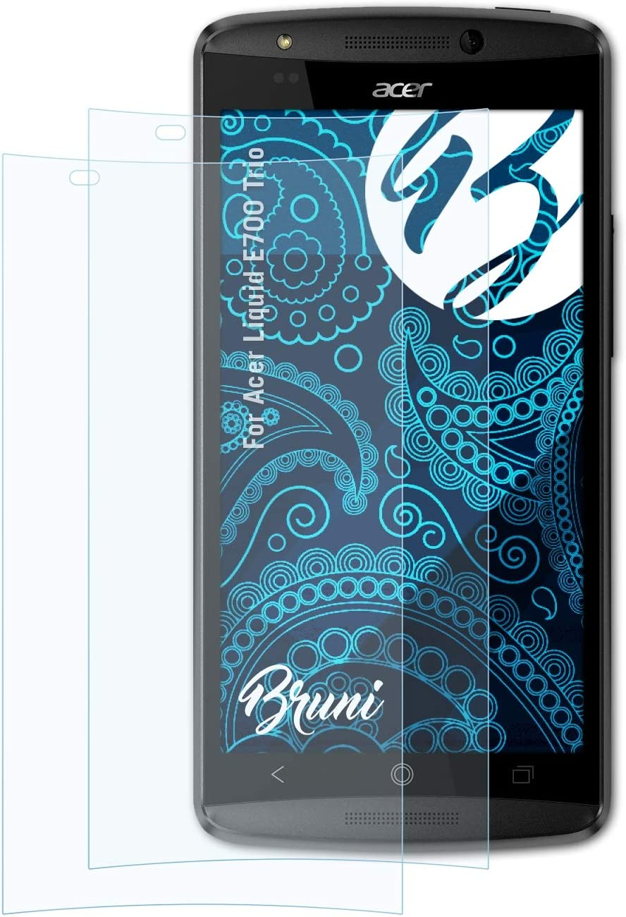 Bruni Screen Protector Compatible with Acer Liquid E700 Trio Protector Film, Crystal Clear Protective Film (2X)