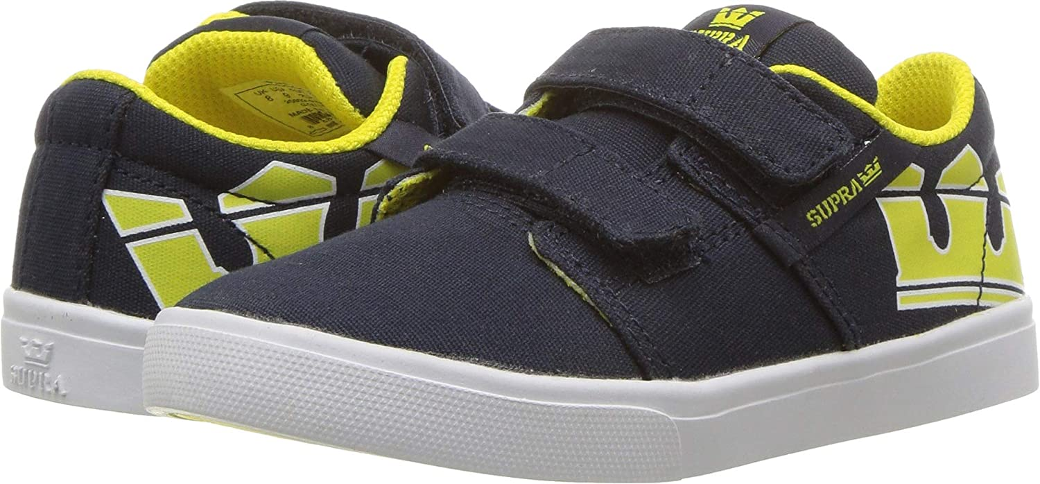 Navy//Yellow//White 5 Toddler Supra Kids Baby Boys Stacks Vulc II V Toddler