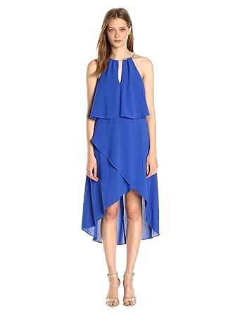 ff2bed845eb9 Adrianna Papell Women s Hi Lo Halter Dress at Amazon Women s ...