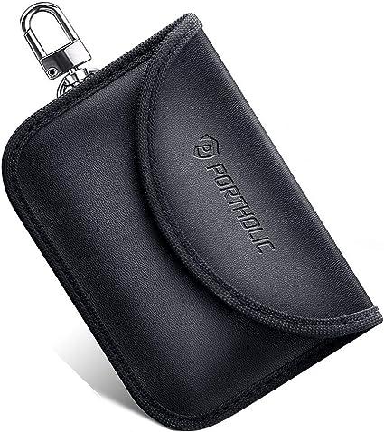 Keyless Go Schutz Autoschlüssel Portholic 2 Pack Rfid Blocker Funkschlüssel Abschirmung Schlüsseltasche Signalblocker Strahlenschutz Autoschlüssel Tasche Etui Schlüsseletui Schutzhülle Für Card Koffer Rucksäcke Taschen