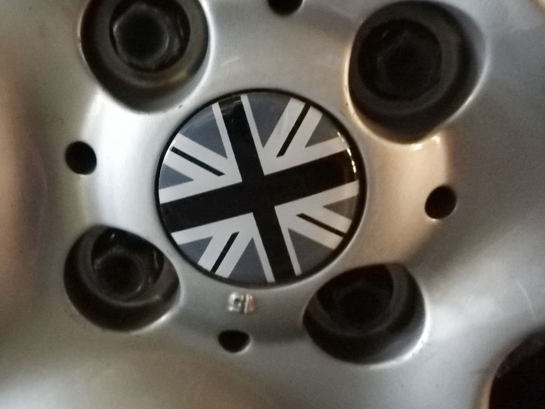 etc iJDMTOY Black//Grey Union Jack UK Flag Style Wheel Center Cap Covers For MINI Coopers R50 R51 R52 R53 R55 R56 R57 R58 R59 R60 R61 F55 F56 4