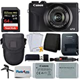 Canon PowerShot G7 X Mark III Digital Camera (Black) + 64GB Extreme Pro Memory Card + Camera Case + Extra NB-13L Battery + Ta