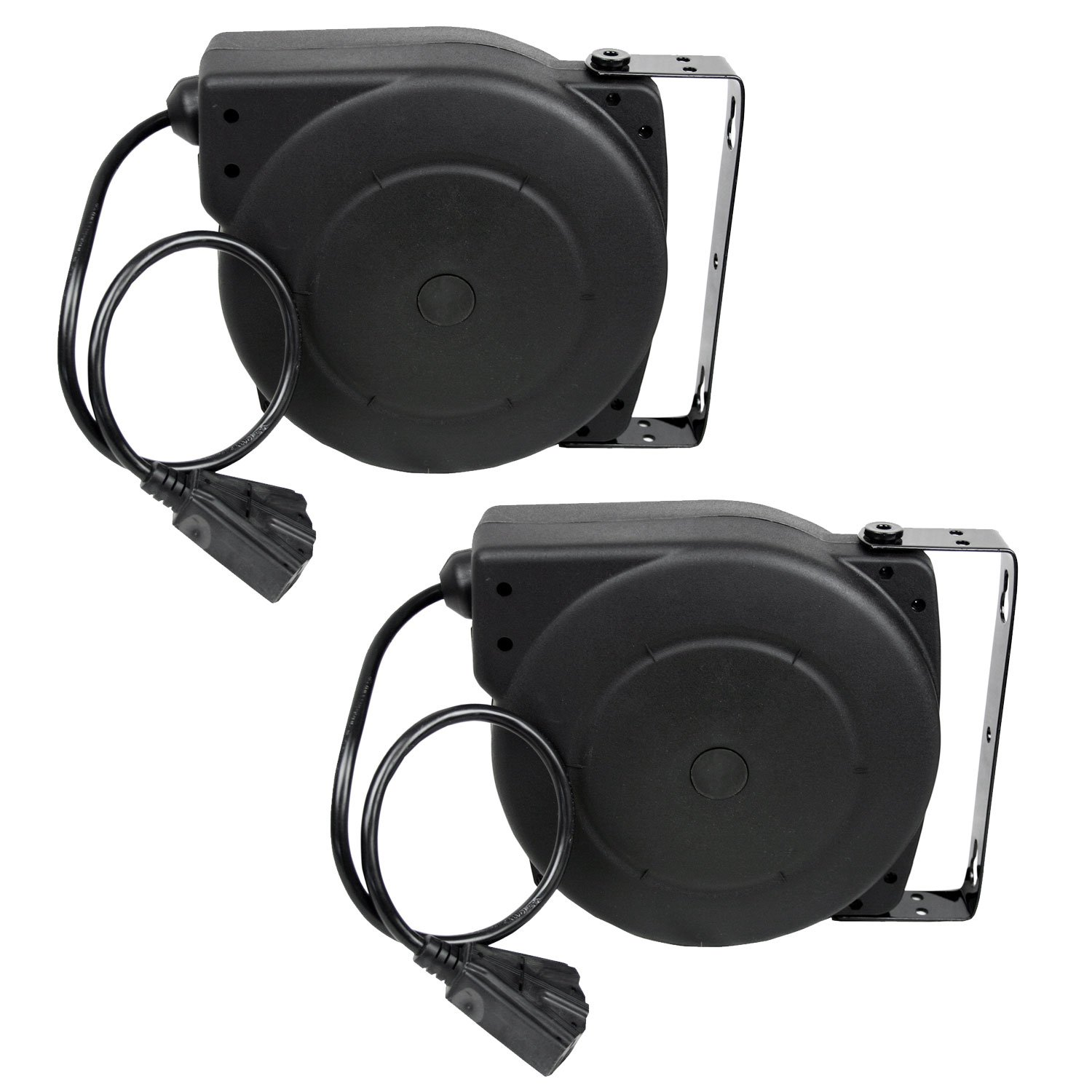 Alemite 7262-A 40-Feet 12/3 Retractable Extension Cord Reel, 2-Pack