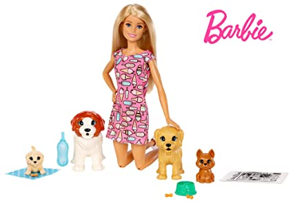 Paper Doll Mattel New Toy Walk /& Potty Pup Toy Barbie