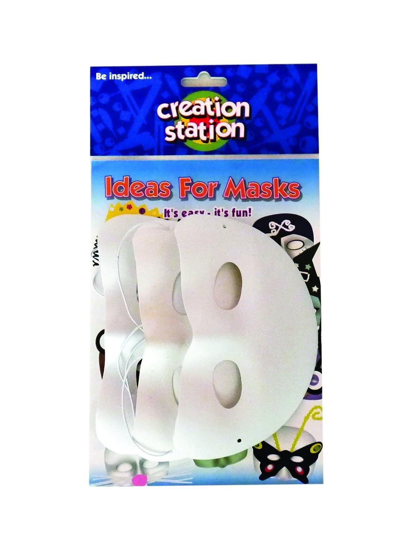 Creation Station New Three Masks Half Face Artstraws CS4805