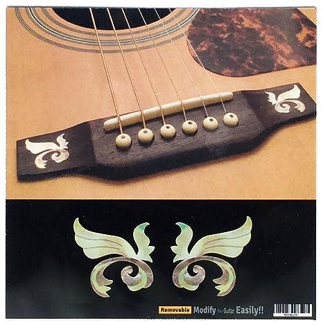 Calcomanía para puente de guitarra acústica con diseño de alas ...