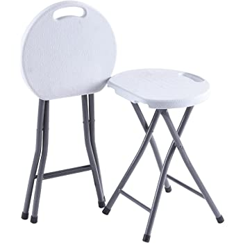 Amazon Com Zimmer Folding Stool Set Of 2 Portable