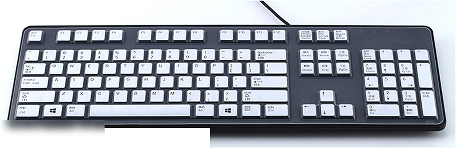 for Dell Kb212 B Kb4021 Sk 8120 Desktop Computer Business Pc All in One Pc Keyboard Cover Protector Desktop Computer Film-Pink