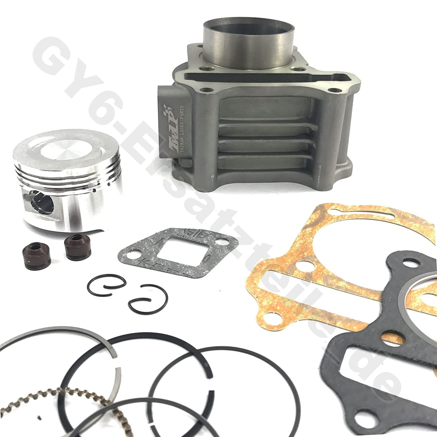 HIGH PERFORMANCE TUNING CYLINDER UPGRADE KIT 47mm 80CCM CYLINDER TAIWAN LASER PARTS 139 QMA//B GY6 4 STROKE CHINESE SCOOTER JONWAY JMSTAR ROKETA PEACE BMS BENZHOU TAOTAO BAJA ZNEN LANCE JCL ETC.