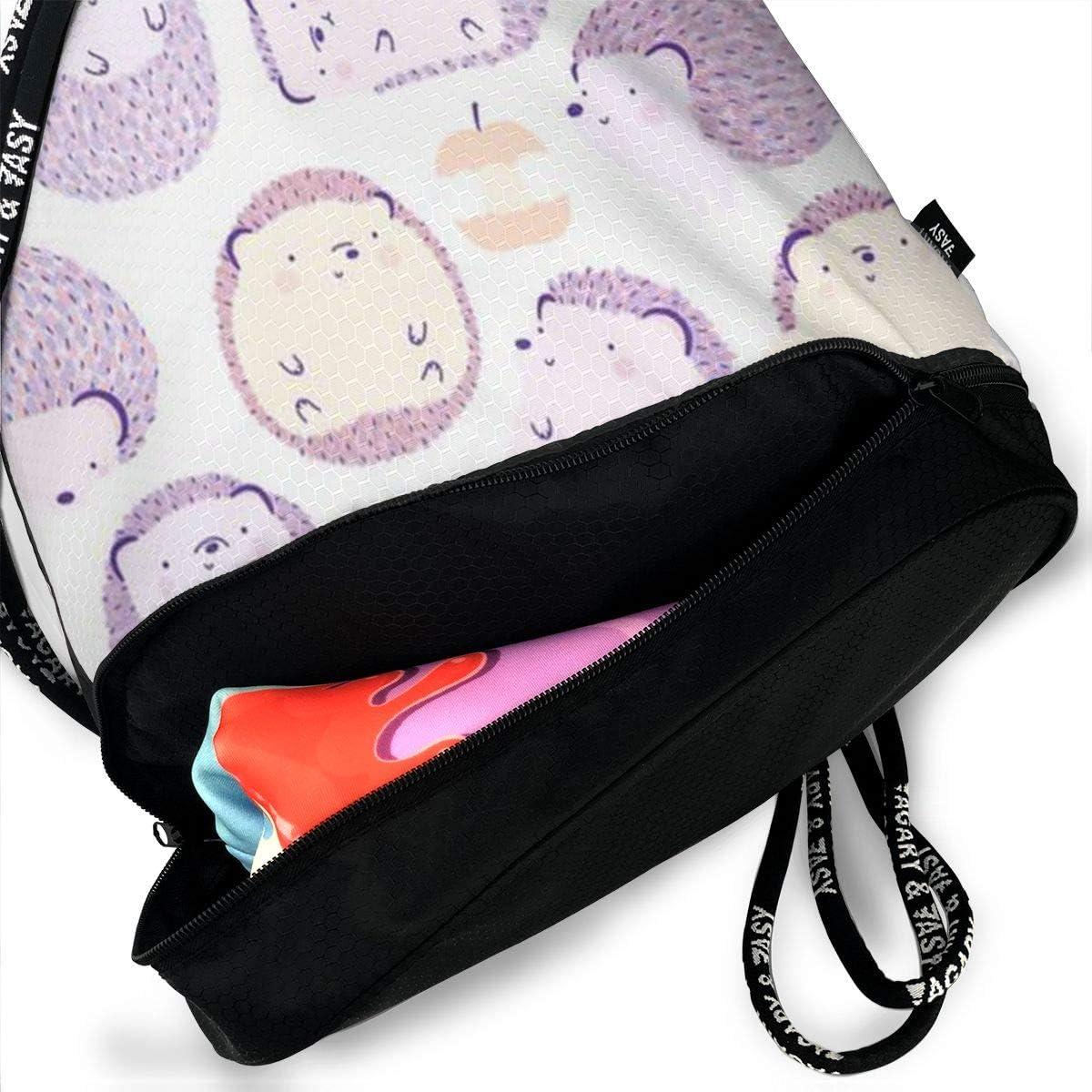 HUOPR5Q Hedgeho Drawstring Backpack Sport Gym Sack Shoulder Bulk Bag Dance Bag for School Travel