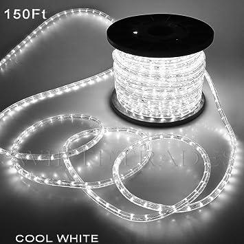 Amazon christmas lighting led rope light 150ft white ii w christmas lighting led rope light 150ft white ii w connector aloadofball Gallery