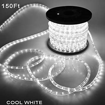 Amazon christmas lighting led rope light 150ft white ii w christmas lighting led rope light 150ft white ii w connector aloadofball Image collections
