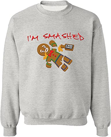H/&T Shirt Hoodies For Women Men Ugly Christmas Shirts Im Smashed Gingerbread Man Hoodie