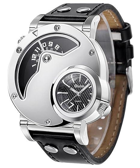 Reloj de cuarzo, Laniakea Dual Time reloj de pulsera con diseño de esfera Dual,