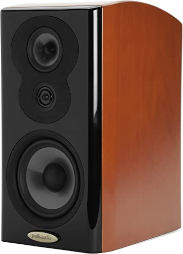 Polk Audio LSiM 703 Flagship Bookshelf Speaker Dynamic Balance PowerPort Technology Bi-Wire Bi-Amp Single, Mount Vernon Cherry