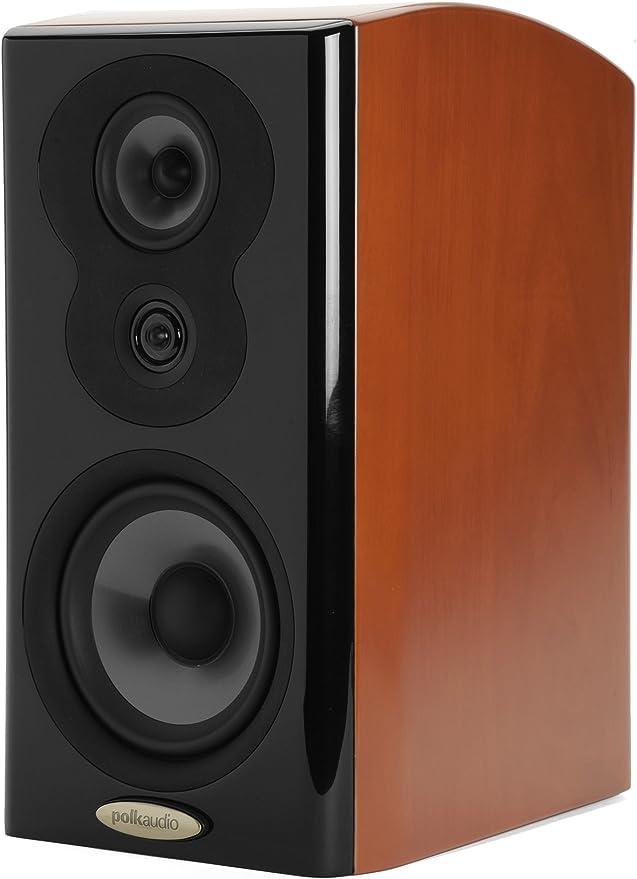 Polk Audio LSiM 703 Flagship Bookshelf Speaker   Dynamic Balance & PowerPort Technology   Bi-Wire & Bi-Amp   Single, Mount Vernon Cherry